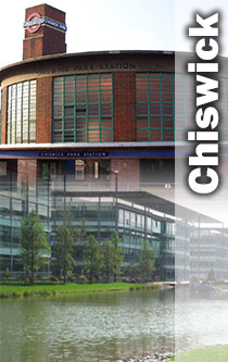 Chiswick Park & Tube Station montage