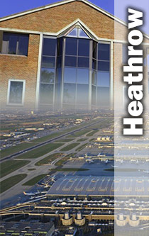 Heathrow airport and training offices montage