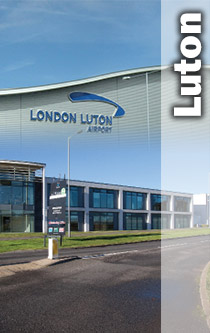 Luton Airport and Offices montage