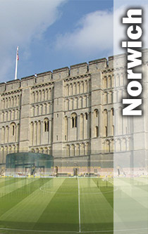Norwich Castle and football club montage