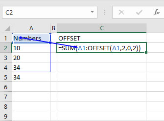 OffSet Excel Function: How do you use it?