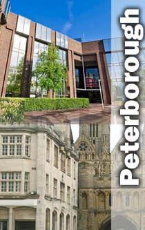 Peterborough centre with offices montage