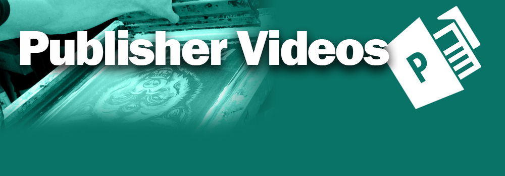 Publisher training Videos